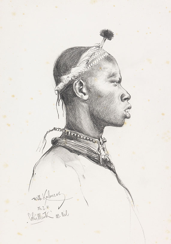 Kuhnert, Wilhelm - Pencil drawing