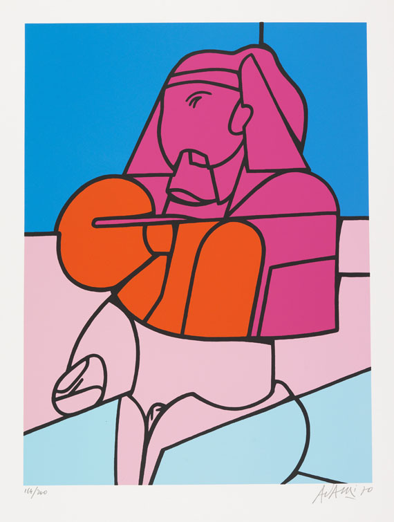 Adami, Valerio - Silkscreen in colors