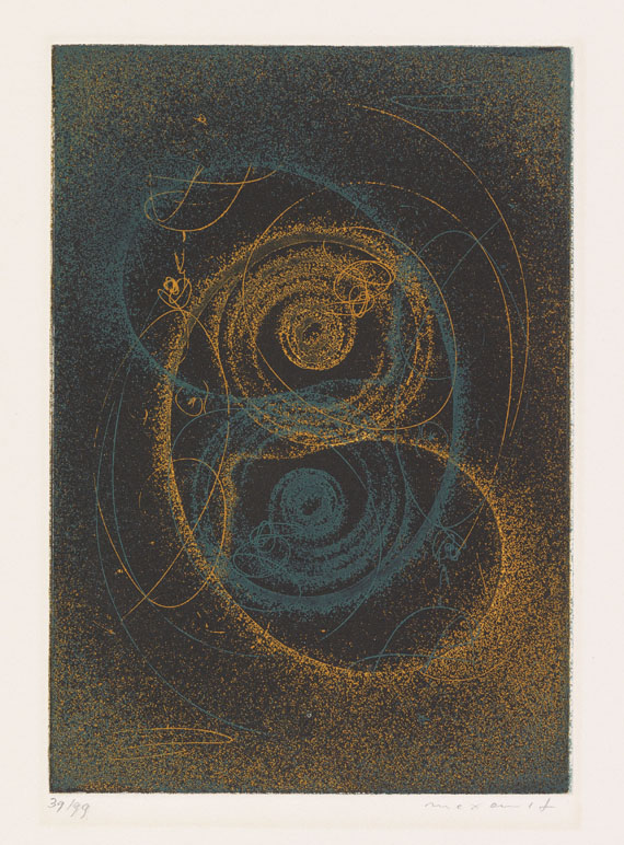 Ernst, Max - Etching and aquatint in colors