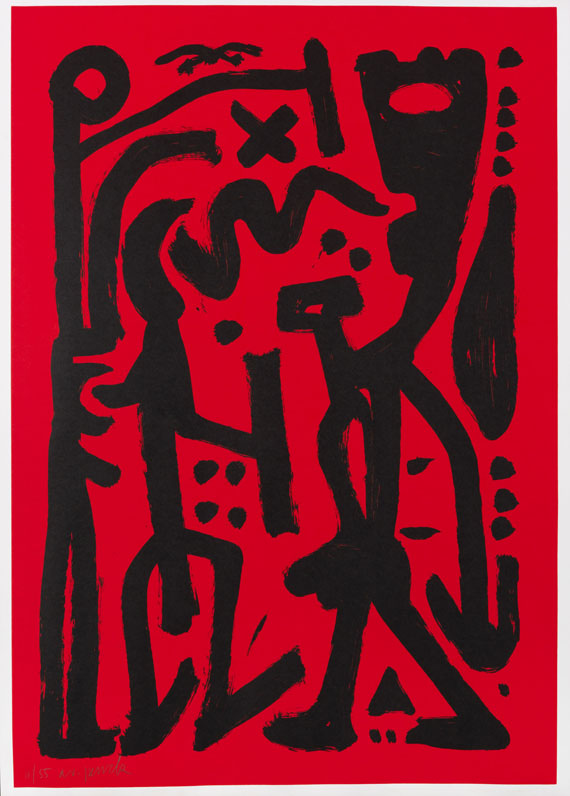 Penck (d.i. Ralf Winkler), A. R. - Lithograph in colors