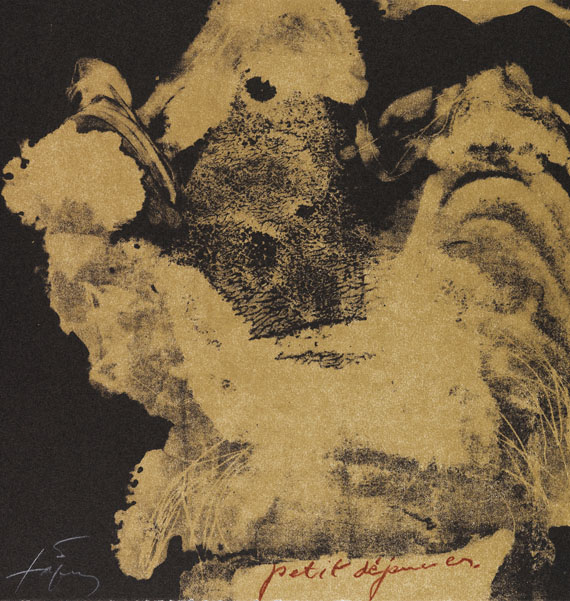 Tàpies, Antoni - Lithograph in colors