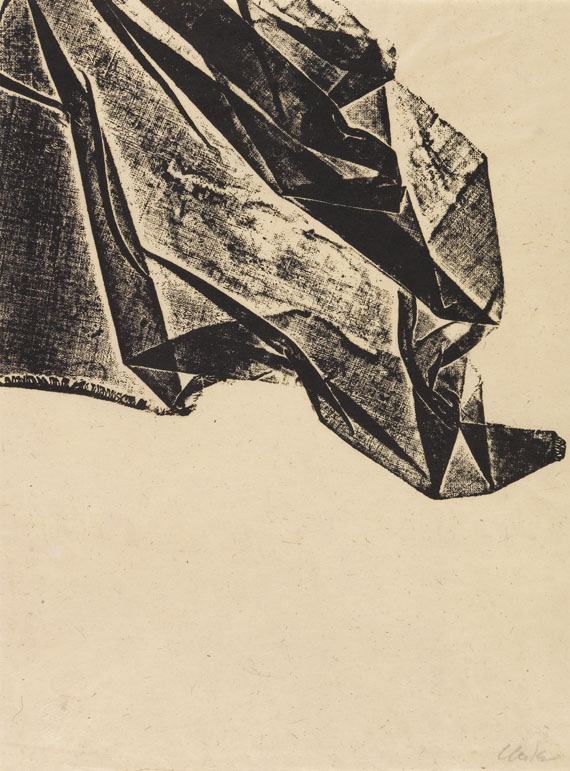 Uecker, Günther - Woodcut