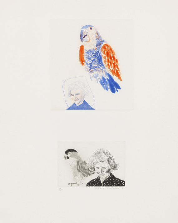 Hockney, David - Etching and aquatint in colors