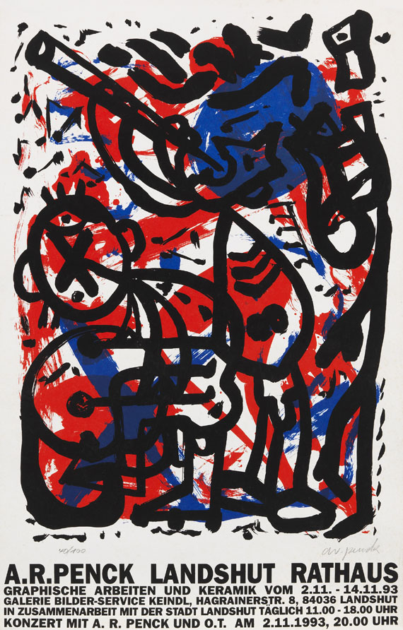 Penck (d.i. Ralf Winkler), A. R. - Silkscreen in colors