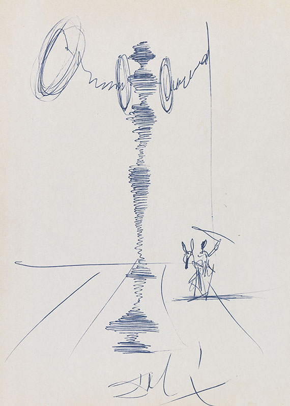Dalí, Salvador - Ball-point drawing